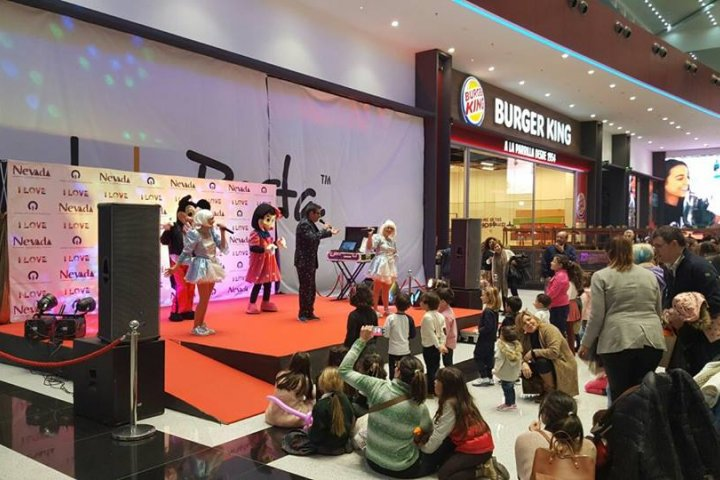 animación nevada shopping infantil